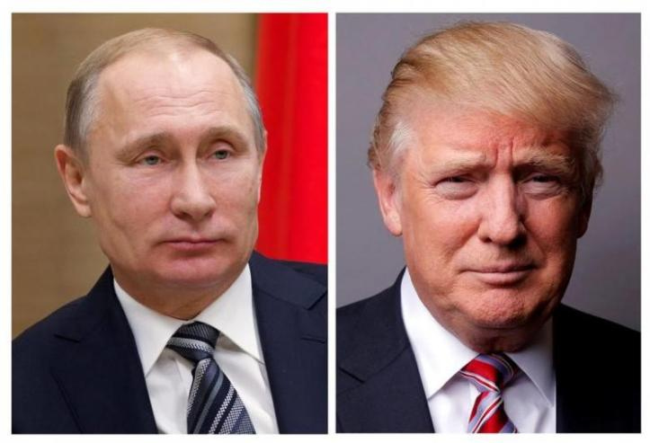 FILE PHOTO: Combination of file photos of showing Russian President Vladimir Putin and U.S. President Donald Trump
